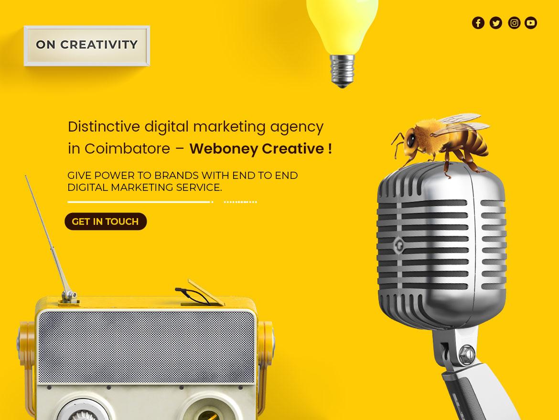 Distinctive digital marketing agency in Coimbatore – Weboney Creative!